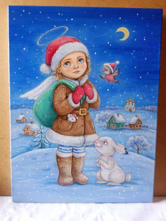 "Irina Nevshupa. painting ""Christmas Angel"" - photo 3"
