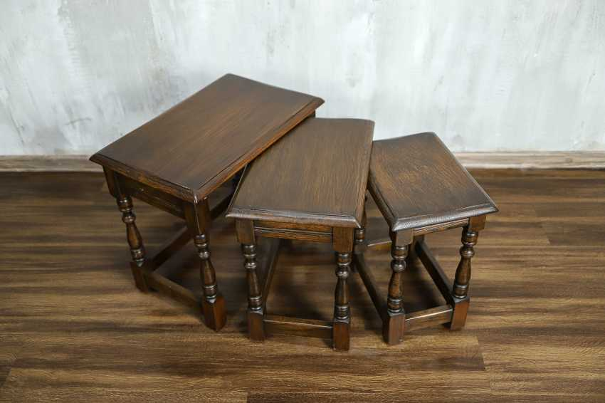 Vintage set of nesting tables - photo 5