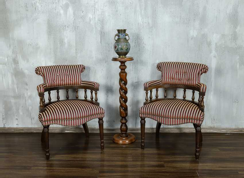 Pair of antique armchairs - photo 1