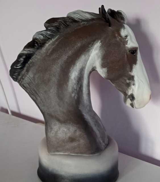 Bayarma Dashiyeva. Horse bust sculpture - photo 1