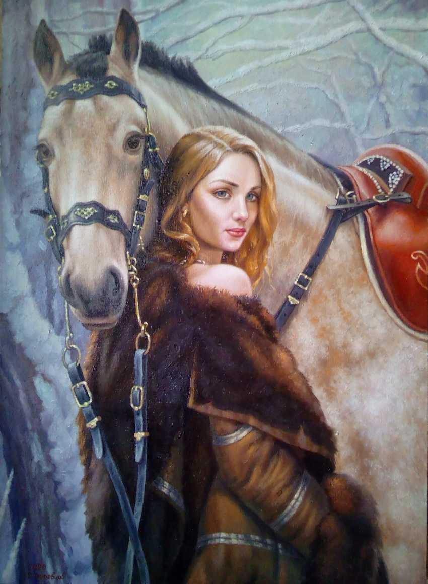 Ruslan Derevtsov. Девушка и лошадь - photo 1