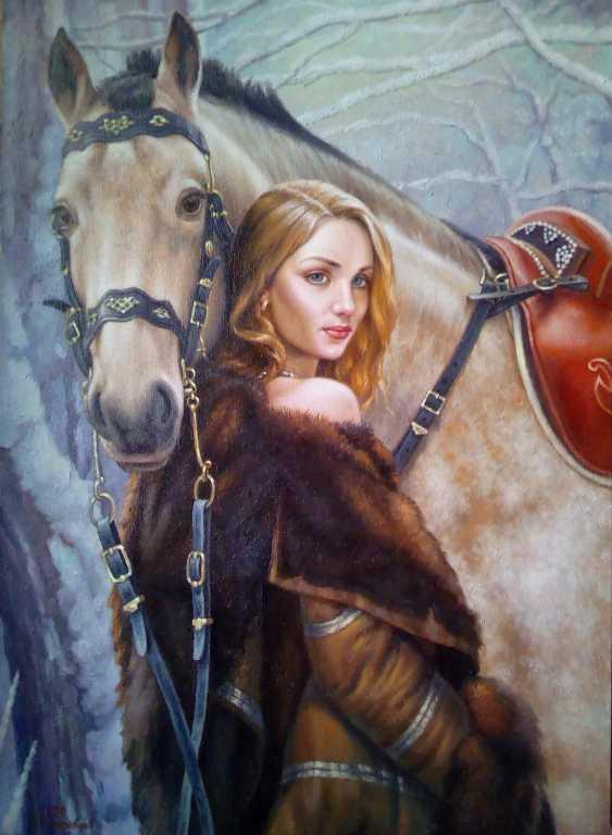 Руслан Деревцов. Девушка и лошадь - фото 1