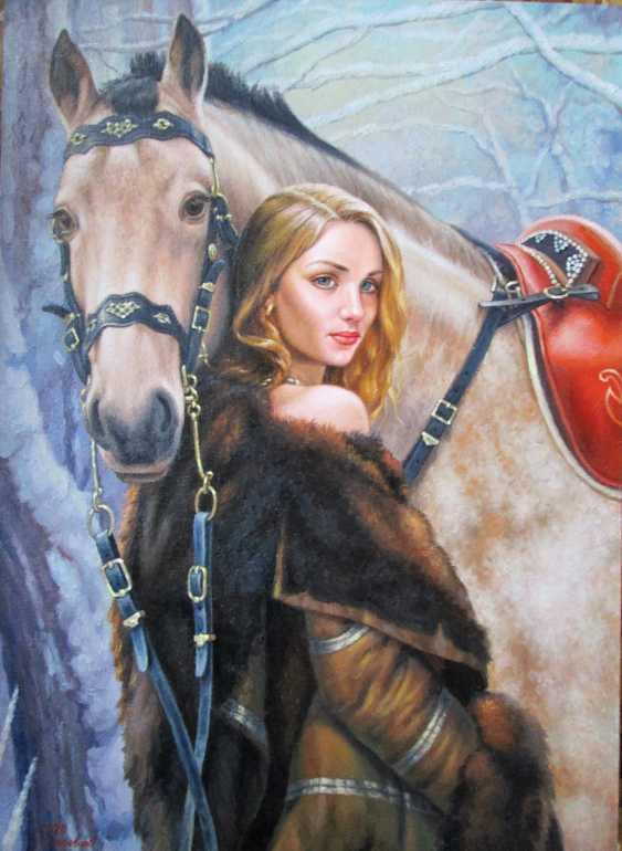 Руслан Деревцов. Девушка и лошадь - фото 2