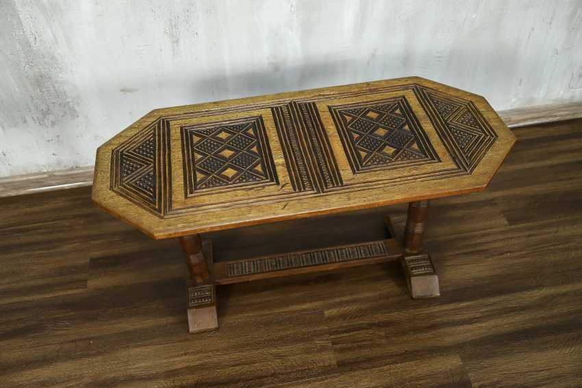 Antique carved side table - photo 7