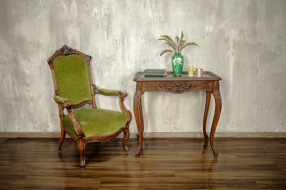 Antique carved side table - photo 1