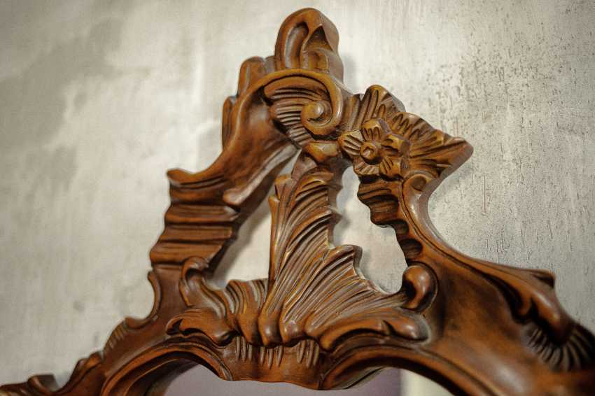 Antique carved mirror - photo 5