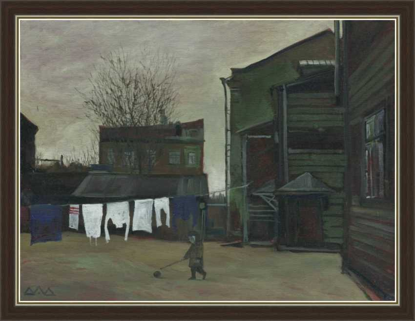 """Dmitry Drozdetski. """"Boy with a ball (yard in Dorogomilovo)"""" - photo 1"""