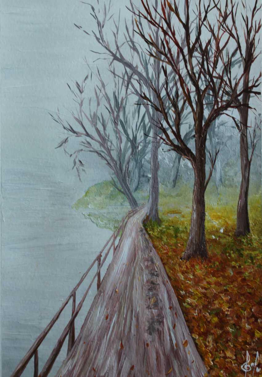 Ella Shevchenko. Autumn morning in a haze of fog - photo 1