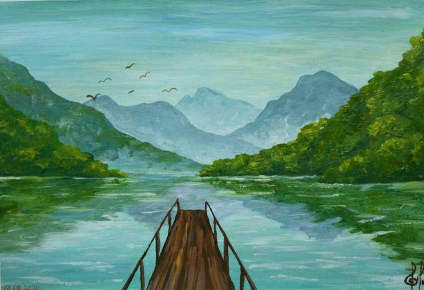Ella Shevchenko. Reflected mountains in water - photo 1