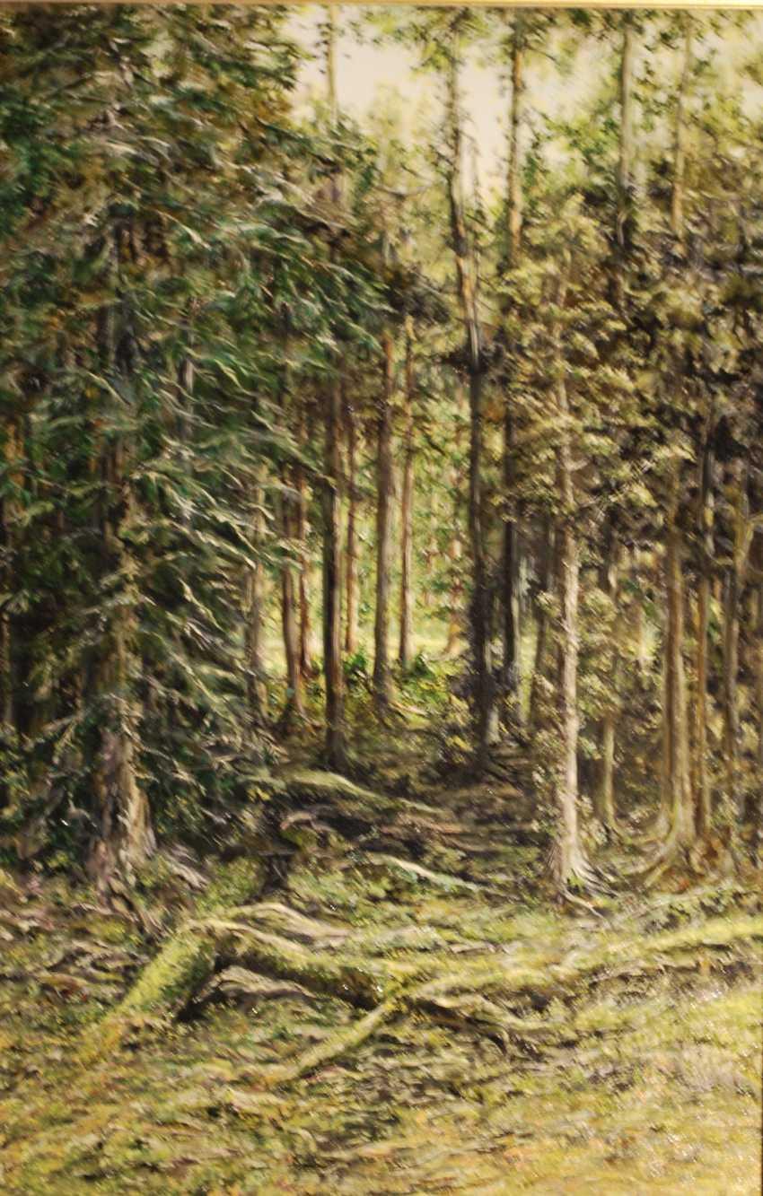 Alexandra Zhurkina. Forest. Based on the works of I. Shishkin - photo 1