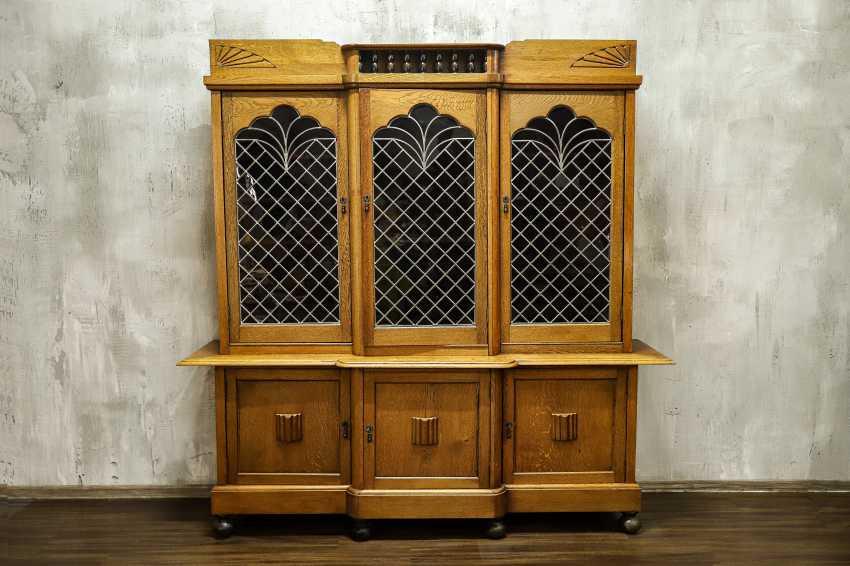 Antique oak bookcase - photo 1