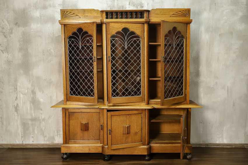 Antique oak bookcase - photo 2