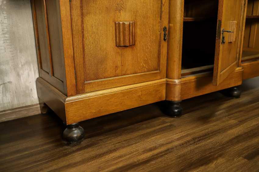 Antique oak bookcase - photo 4