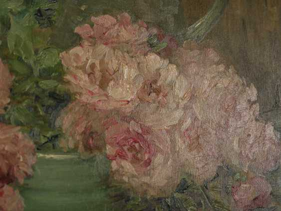 """Antique painting """"Garden roses and a jug"""" - photo 5"""