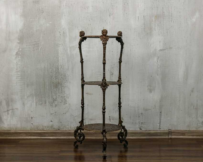 Antique wrought iron table - photo 2