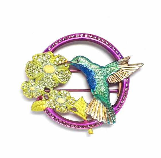 """Igor Uchevatov. Brooch """"Hummingbird"""" - photo 1"""