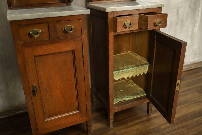 Pair of antique nightstands - photo 4