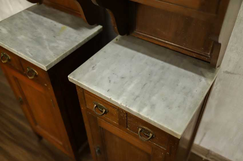 Pair of antique nightstands - photo 9