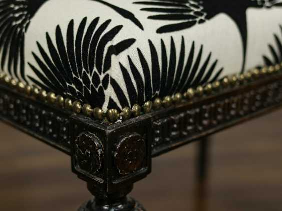 Antique carved bench - photo 6