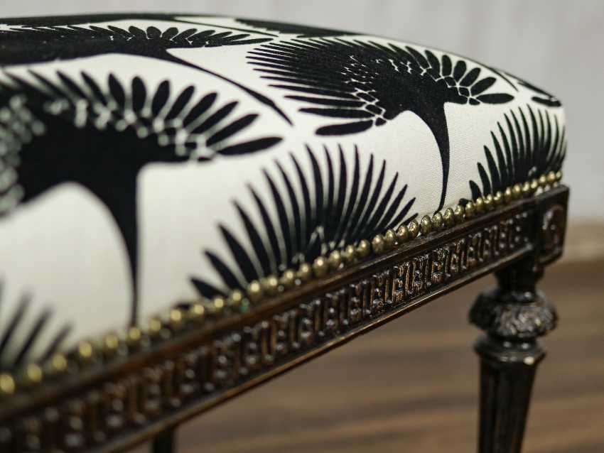Antique carved bench - photo 8