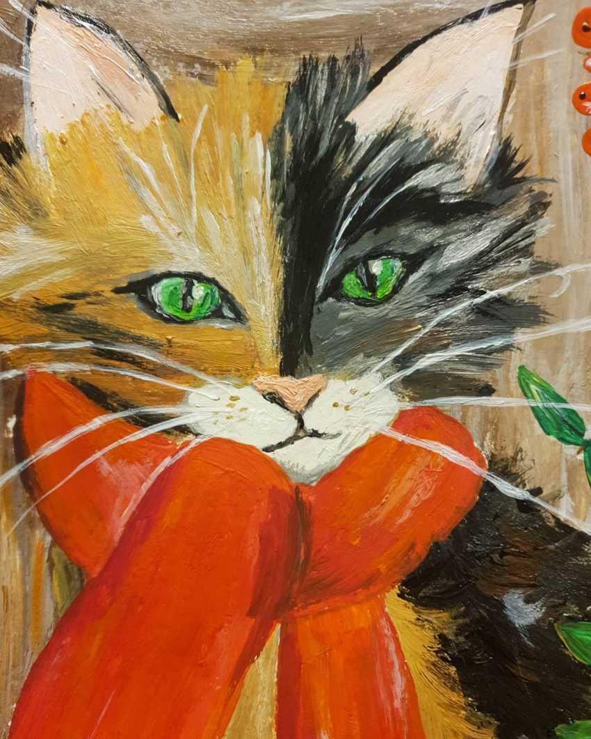 Natasha Matishak. Cat and orange scarf - photo 2