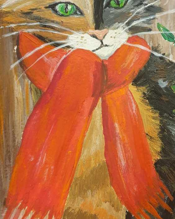 Natasha Matishak. Cat and orange scarf - photo 3