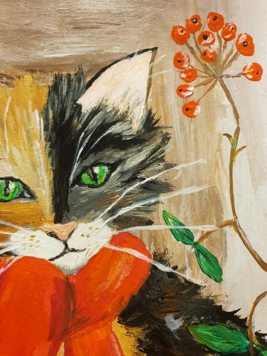 Natasha Matishak. Cat and orange scarf - photo 5