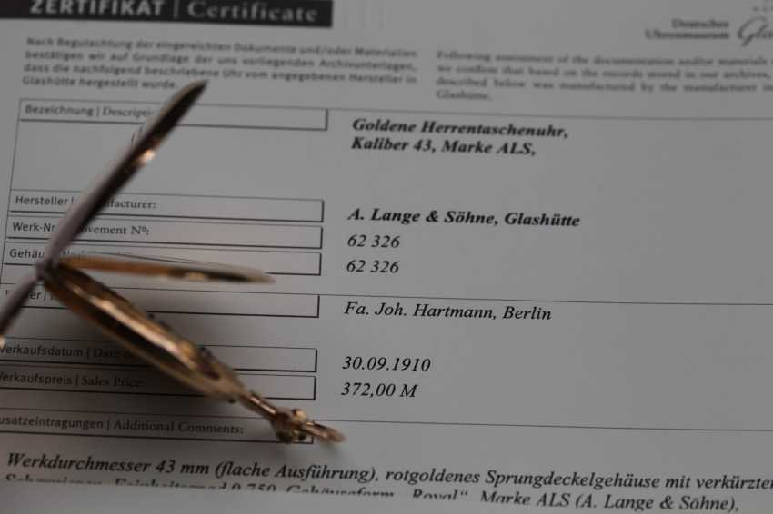 A. Lange & Söhne 1A 18K / 750 rose gold savonette pocket watch - photo 3