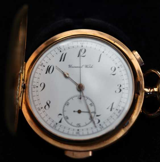 Universal Watch 18Kt / 750 Gold Minutenrepetition mit Chronograph - photo 1