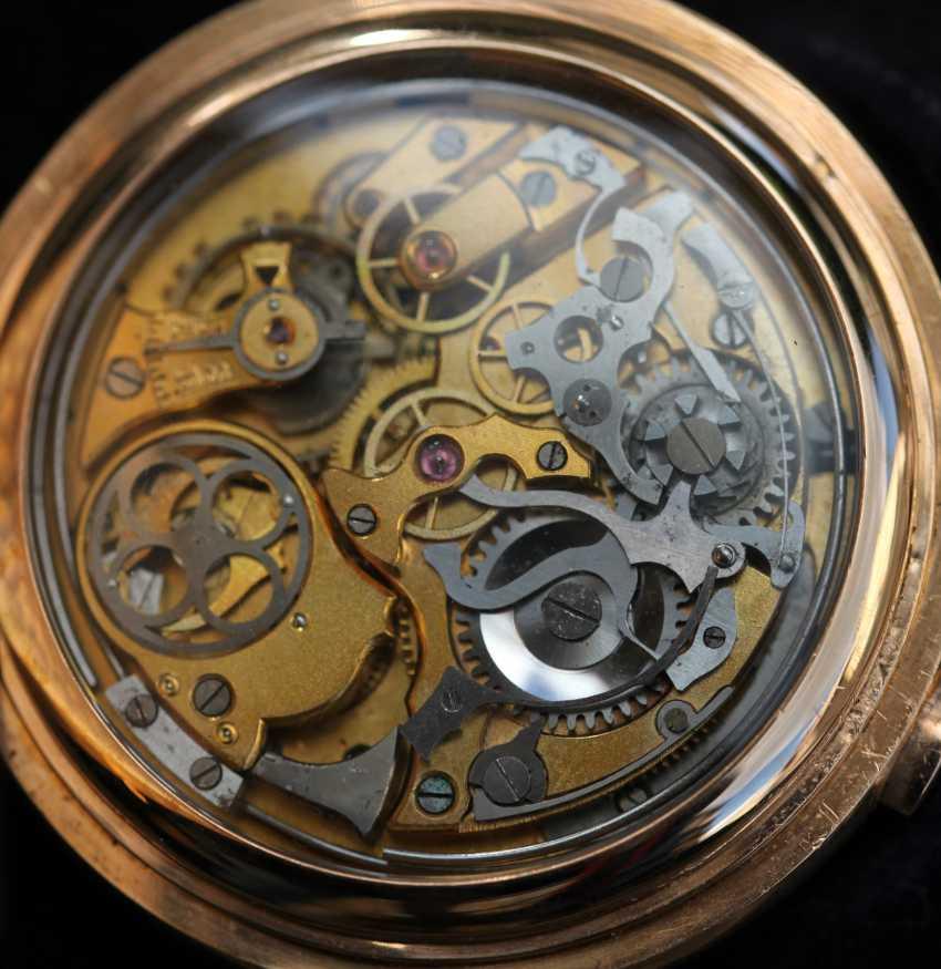 Universal Watch 18Kt / 750 Gold Minutenrepetition mit Chronograph - photo 3