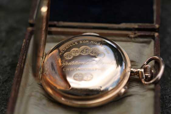 Universal Watch 18Kt / 750 Gold Minutenrepetition mit Chronograph - photo 4