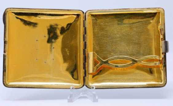 Cartier cigarette case Art Deco in silver and enamelled - photo 2