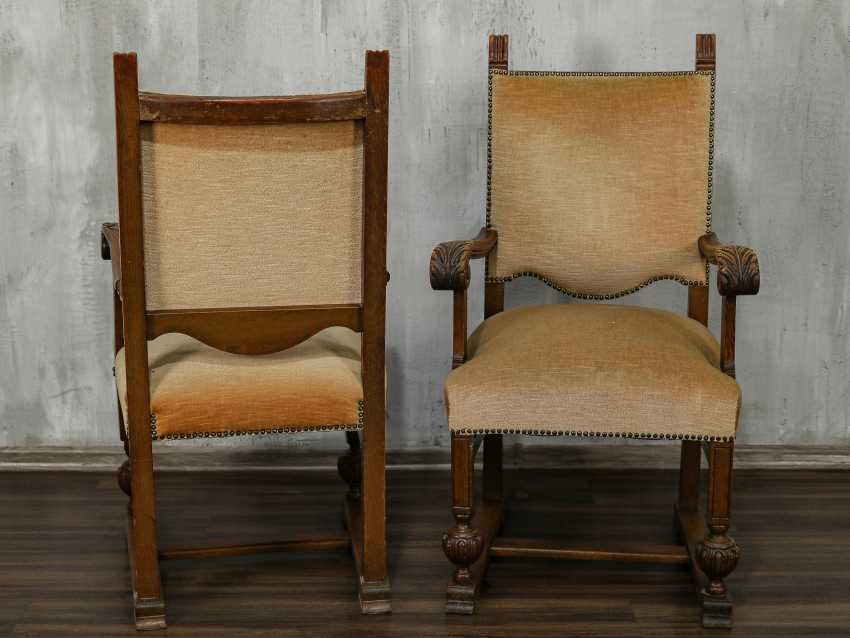 Pair of antique carved armchairs - photo 9
