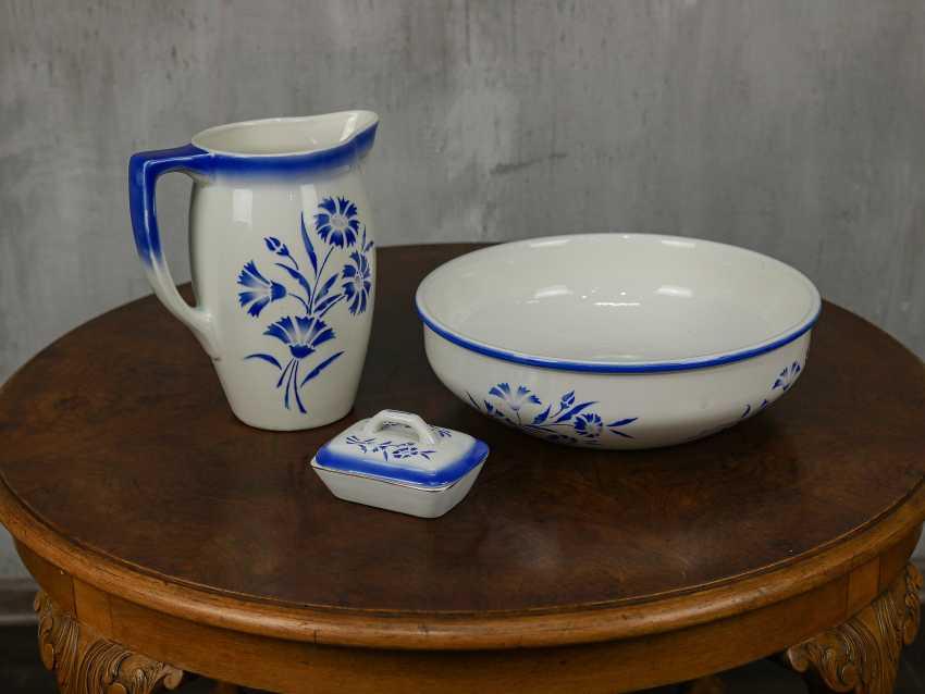 Antique washbasin set, 3 pieces - photo 1