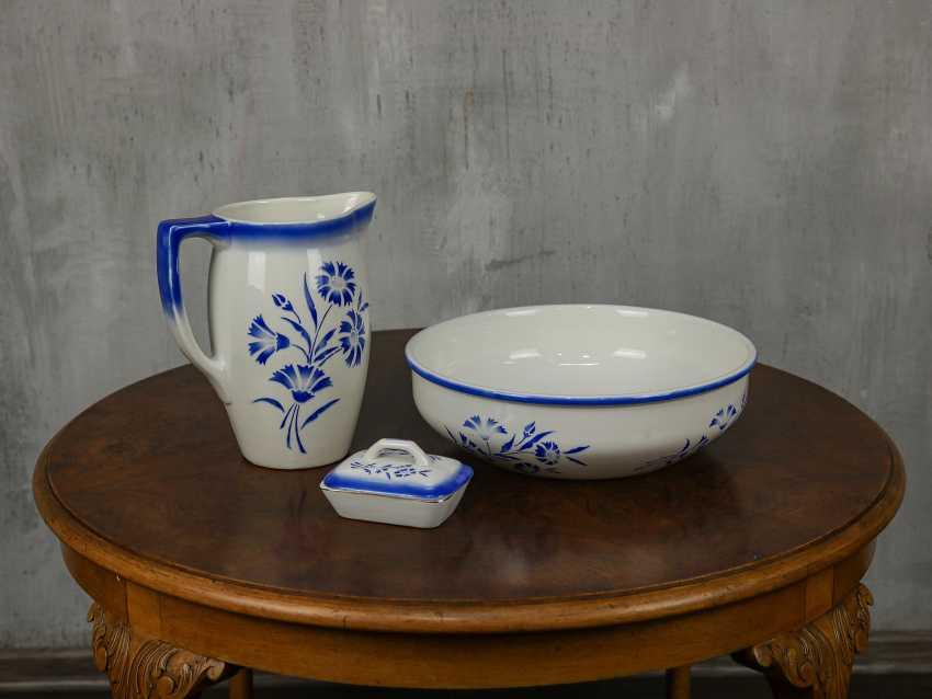 Antique washbasin set, 3 pieces - photo 2
