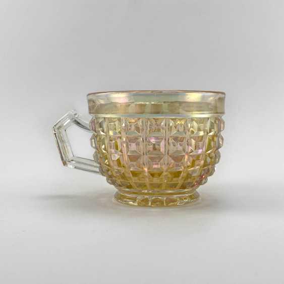 George cup. Germany, Brockwitz, carnival glass, handmade, 1903-1925 - photo 1