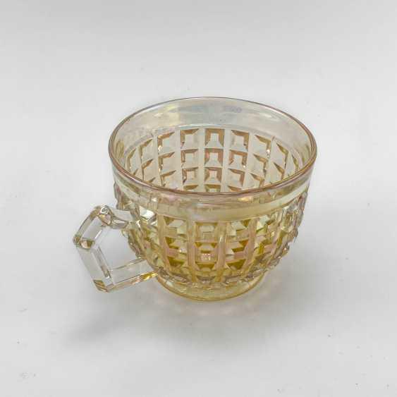 George cup. Germany, Brockwitz, carnival glass, handmade, 1903-1925 - photo 3