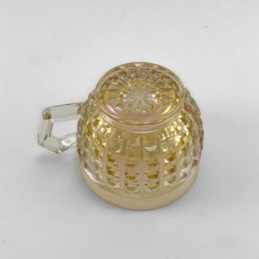 George cup. Germany, Brockwitz, carnival glass, handmade, 1903-1925 - photo 4