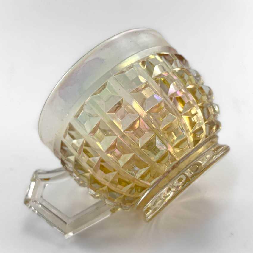 George cup. Germany, Brockwitz, carnival glass, handmade, 1903-1925 - photo 6