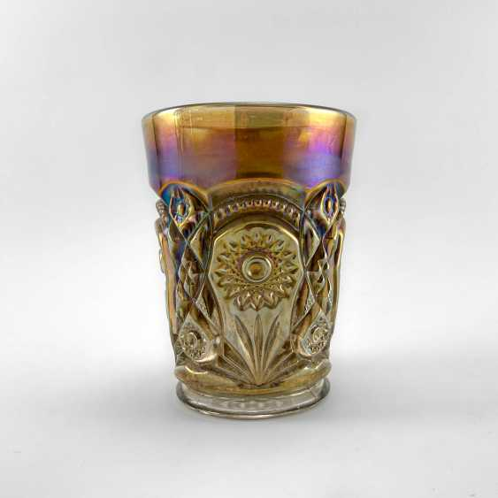 "Glass ""Fashion"". USA, Imperial, carnival glass, handmade, 1906-1920 - photo 1"