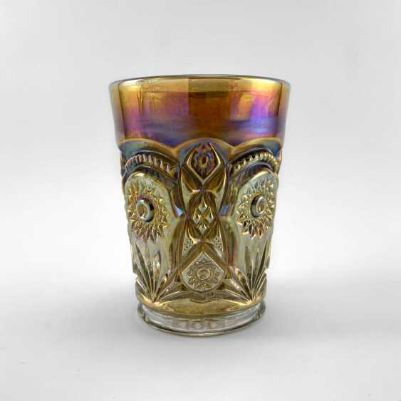 "Glass ""Fashion"". USA, Imperial, carnival glass, handmade, 1906-1920 - photo 3"