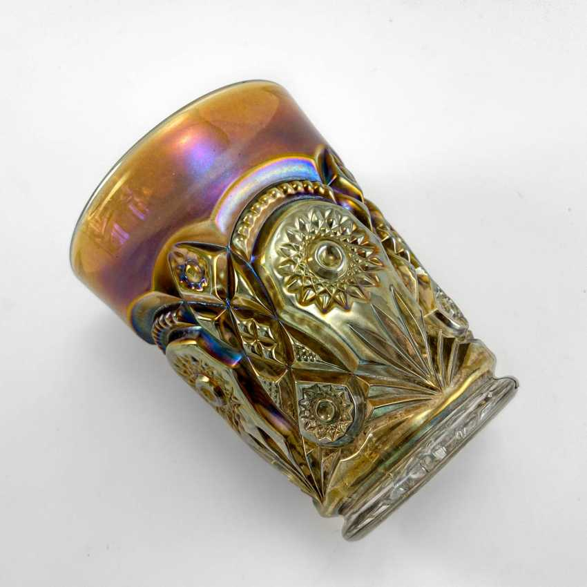 "Glass ""Fashion"". USA, Imperial, carnival glass, handmade, 1906-1920 - photo 5"