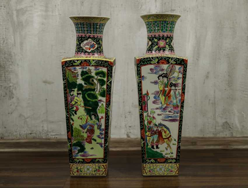Antique paired floor vases - photo 1