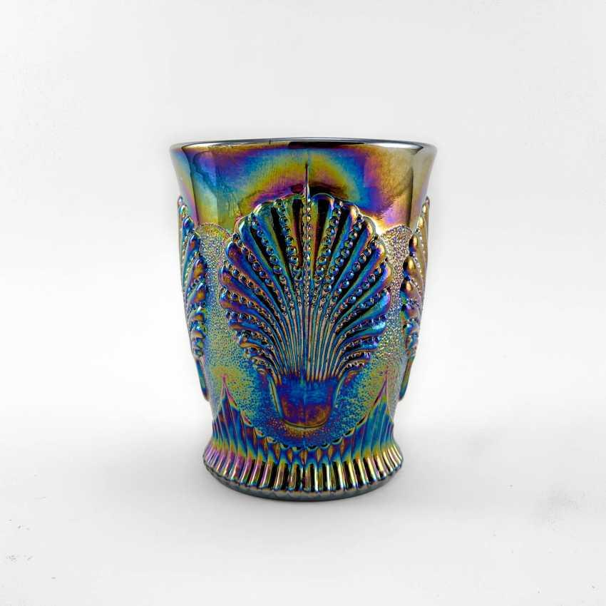 "Glass ""Seashell"". USA, Dugan, carnival glass, handmade, 1904-1913 - photo 1"