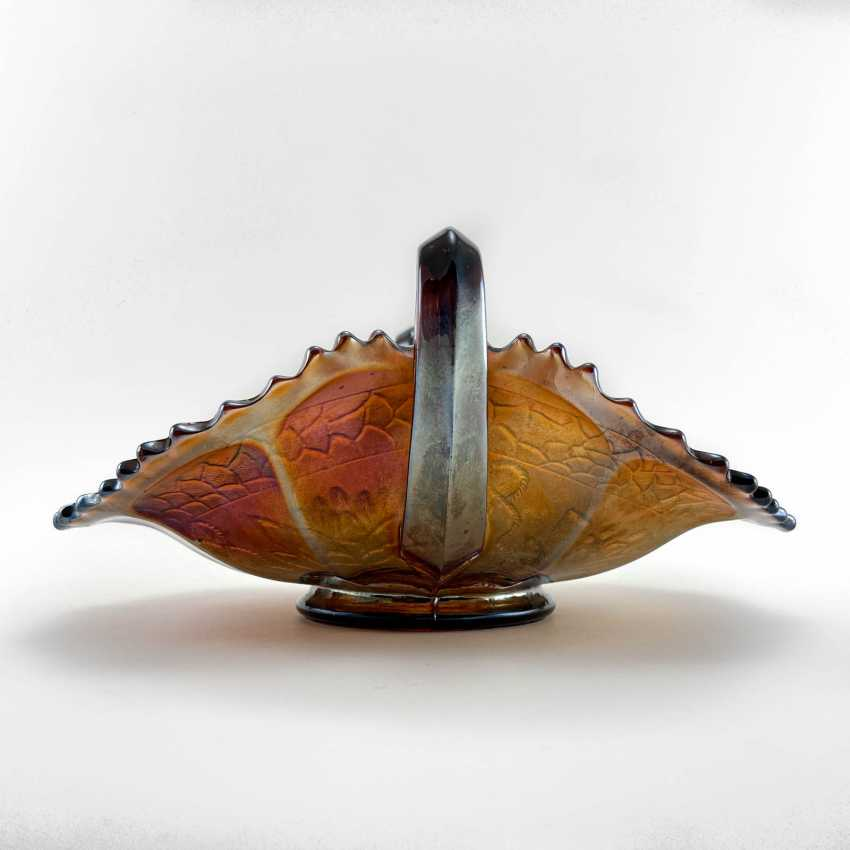 "Serving plate ""Pond Lilly"". USA, Fenton, carnival glass, handmade, 1907-1920 - photo 3"
