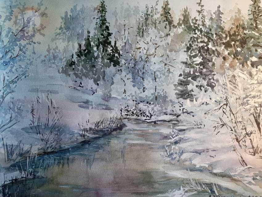 "Alexandra Zhurkina. Author's watercolor ""Winter"" - photo 1"