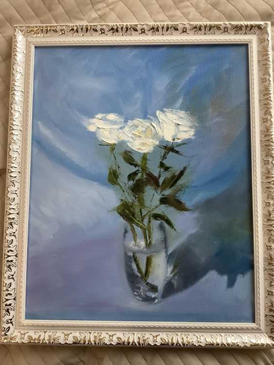 Dmitriy Lebed'kov. White roses - photo 1
