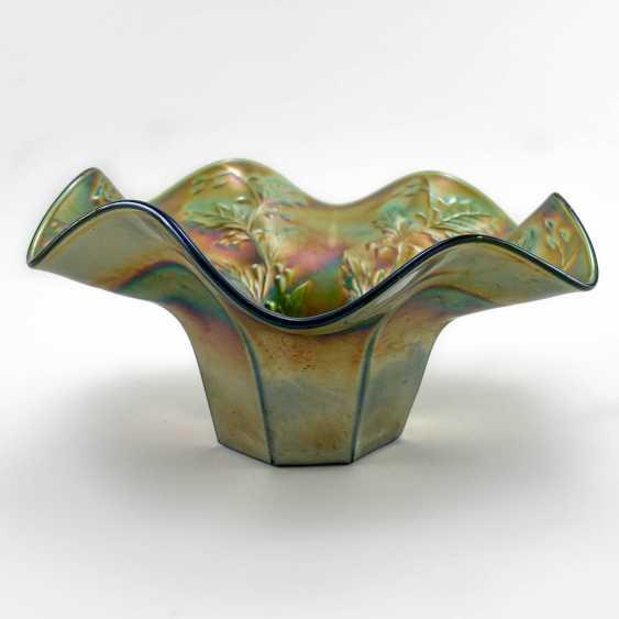 """Holly"" serving bowl. USA, Fenton, carnival glass, handmade, 1907-1920 - photo 3"