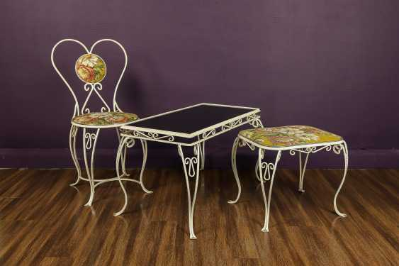Antique wrought iron furniture set - photo 1