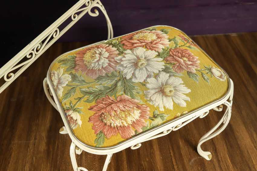 Antique wrought iron furniture set - photo 3